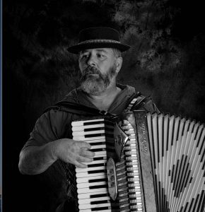 Accordian player John Keith